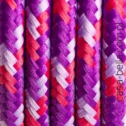 Przewód zasilający Owoce Leśne od Kolorowe Kable- trójkolorowy kabel - casa-bella - oświetlenie to nasza pasja