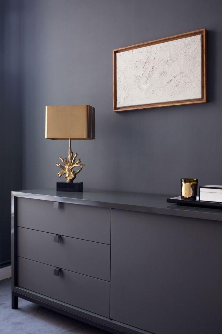 dark walls and furniture