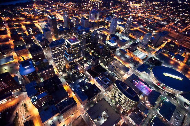 Downtown Kansas City Skyline Aerial  