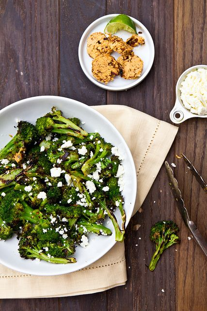 Grilled Broccoli with Chipotle Lime Butter