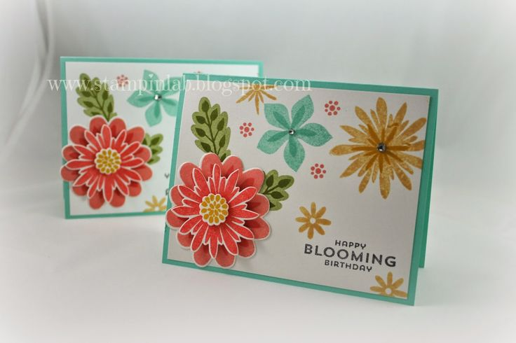 StampinLab, Flower Patch Stampin Up! Photopolymer Stamps