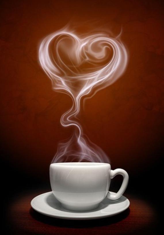Открытки с чашкой кофе