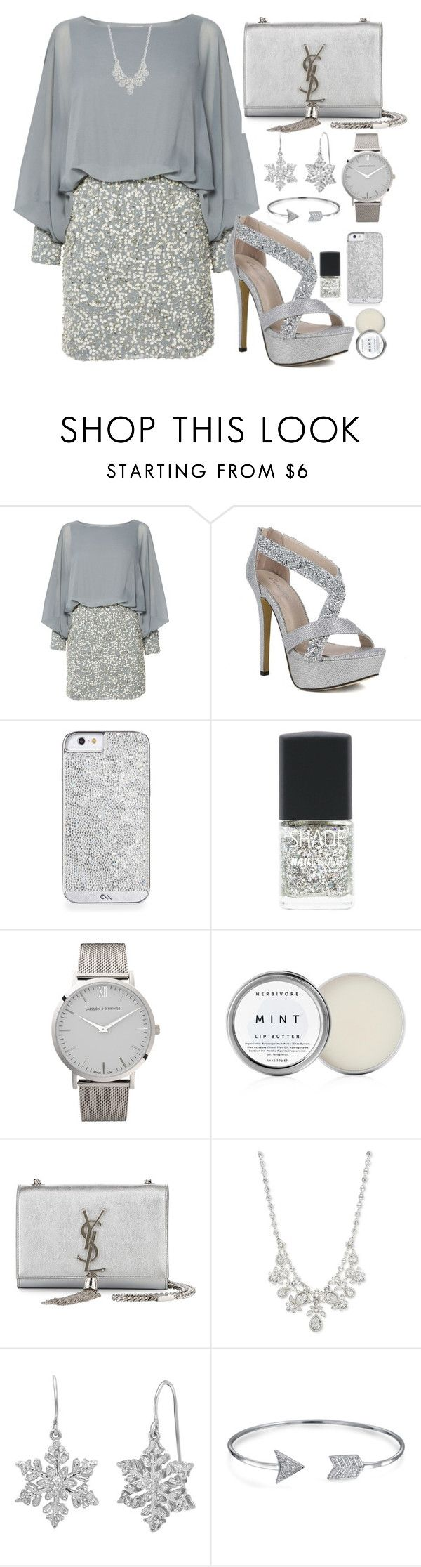 """""""silver"""" by azizanisafitri ❤ liked on Polyvore featuring Lace & Beads, SHADE Collection, Larsson & Jennings, Herbivore, Yves Saint Laurent, Givenchy, Amanda Rose Collection and Bling Jewelry"""