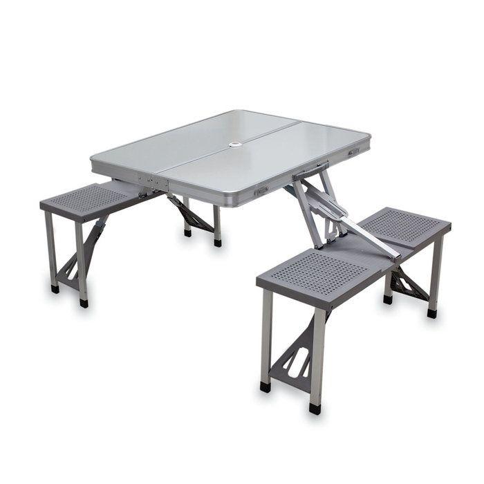 Fresh Brookstone fold up picnic table