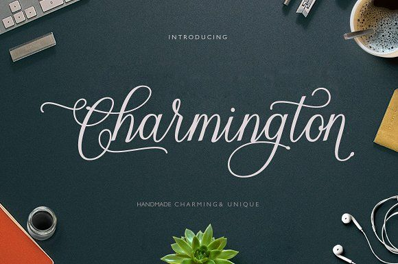 Charmington Script by cooldesignlab on @creativemarket
