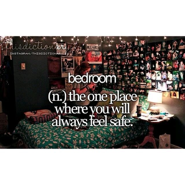 Yes. I always feel safe curled up in a ball on my bed with my iPod, my headphones, a book, my amazing soft fuzzy blanket <3 , and my pillows...(SO puffy!)(and new) lol