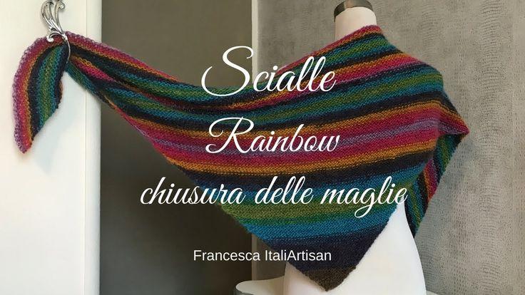 Scialle I Baktus Triangolare Rainbow I CHIUSURA DELLE MAGLIE