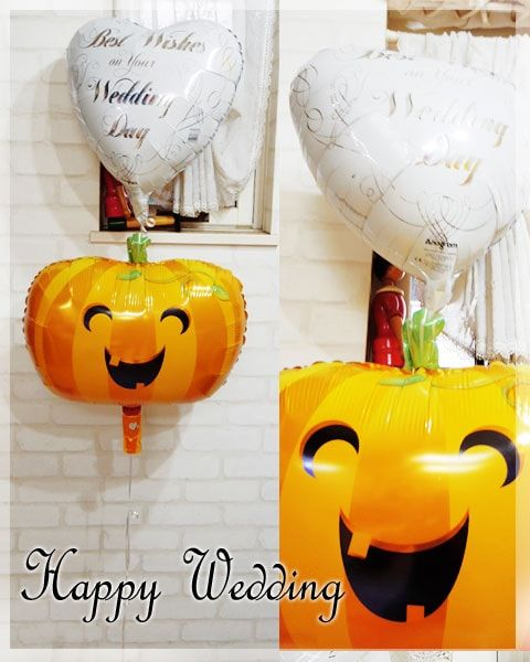 Happy Smiley PUMPKIN - バルーン電報を全国宅配!結婚式・誕生日の電報に 福福バルーン