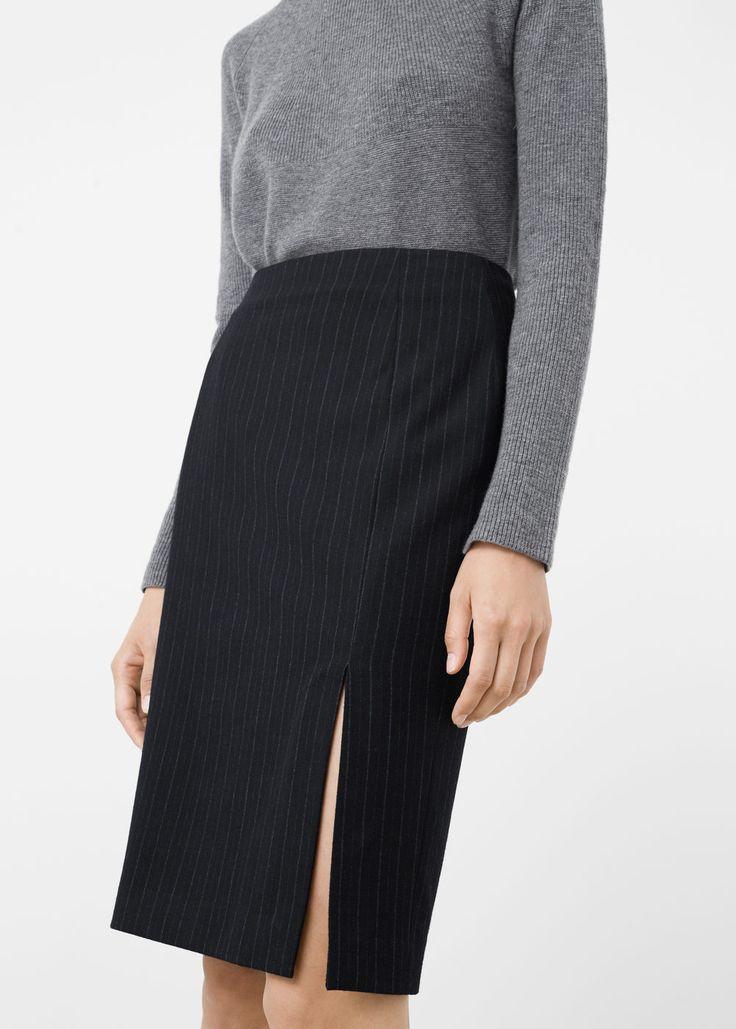 Pinstripe skirt - Skirts for Women | MANGO USA