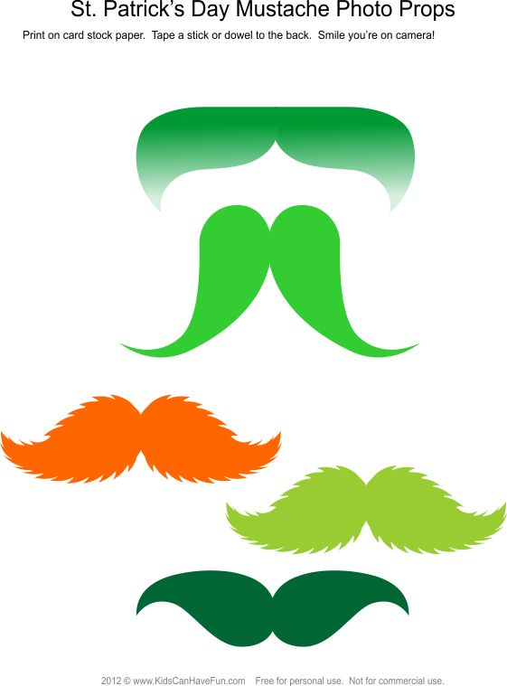 St. Patrick's Day Mustache Photo Booth Props #photobooth #props #stpatricksday