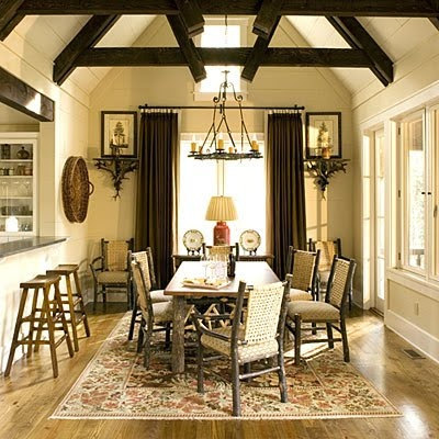 Love The Exposed Beams Dining Room Decorating Ideas: Take Your Cue From The  Natural Surroundings U003c 70 Stylish Dining Room Decorating Ideas   Southern  Living