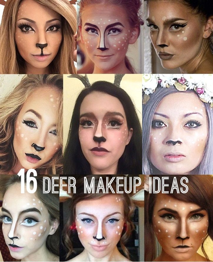 16 Cute Deer Makeup and Antlers Ideas for Halloween! #deermakeup #deercostume #halloweenmakeup #halloween