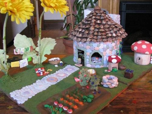 how to make a house out of modeling clay