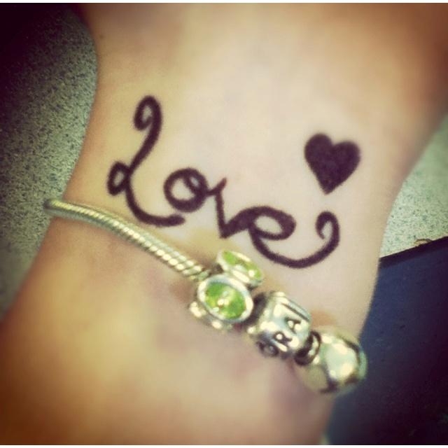 Sharpie tattoo:) I do these every dayy