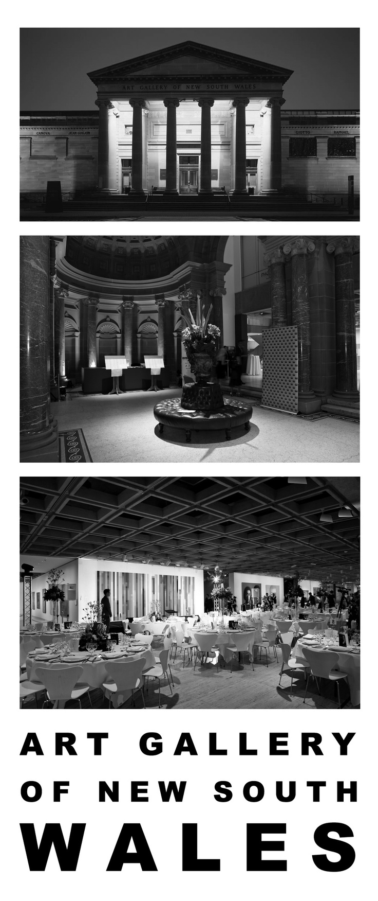 Art gallery of NSW wedding reception venue