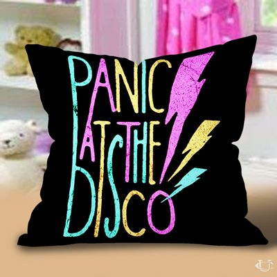 panic at the disco design art logo black pillow cases emo bedroomdream bedroombedroom - Emo Bedroom Designs