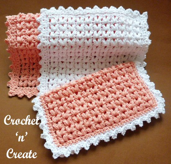 Puff Stitch Dishcloth uk Padrão Livre Crochet