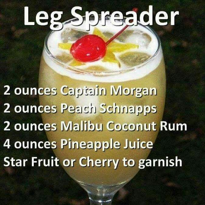 Sorry about the names of these drinks but the ingredients sound delicious!