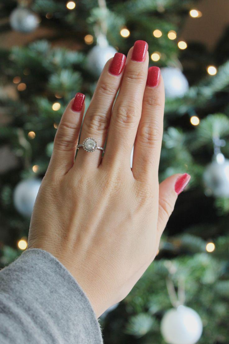 The christmas nail ornament - Christmas Nails Engagement Ring