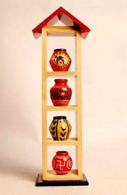 Wooden Pot Shelf / Wooden Terracotta pots Shelves