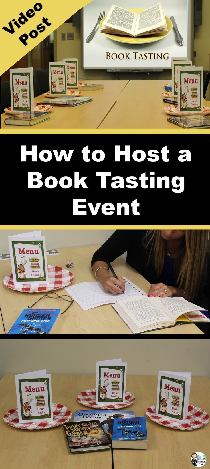 Instructional Video Post: How to Host a Book Tasting Event in a Classroom or…