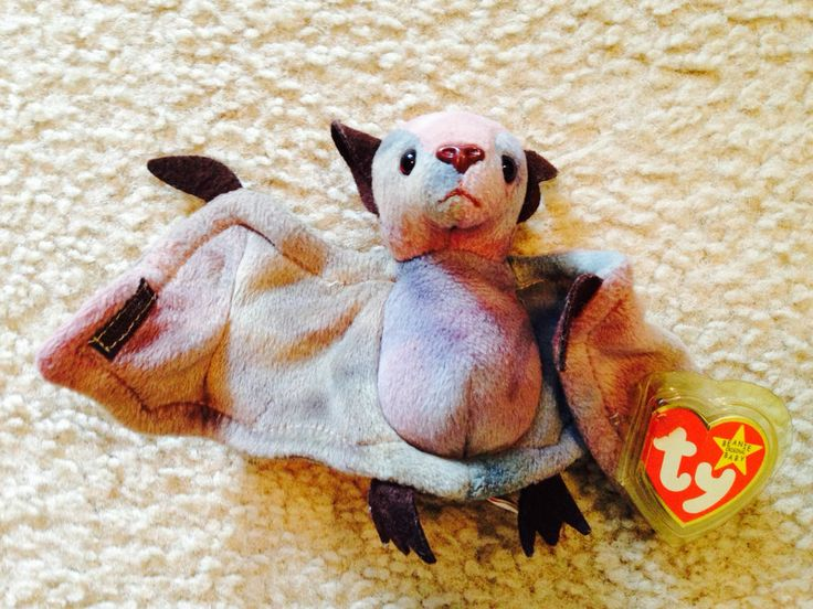 Batty the Bat TY Beanie Baby - COLLECTOR'S ITEM - MINT '96 RELEASE, 98' TUSH TAG #Ty