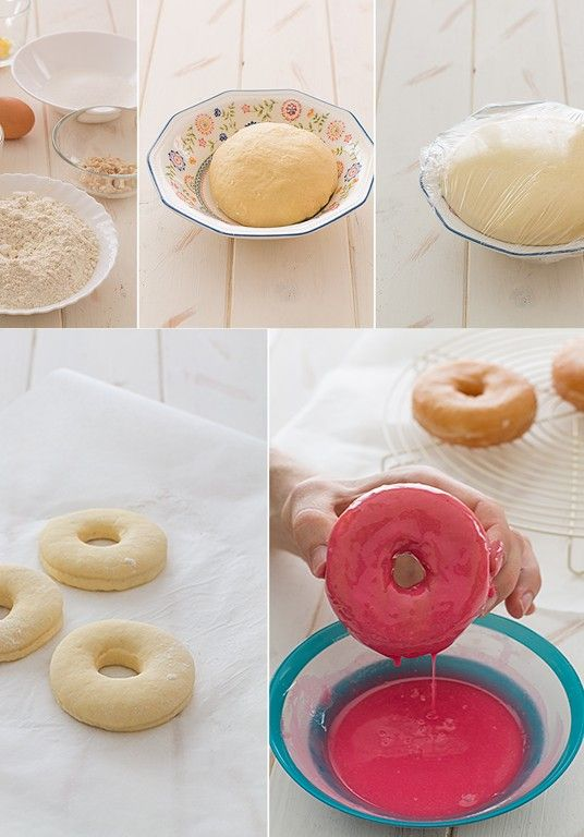 Donuts glaseados ¡para la Vuelta al cole! , Ya tenemos cerca la vuelta al cole, ¿qué os parece si para celebrar el reencuentro con los amigos del cole preparamosunos donuts glaseados en form...