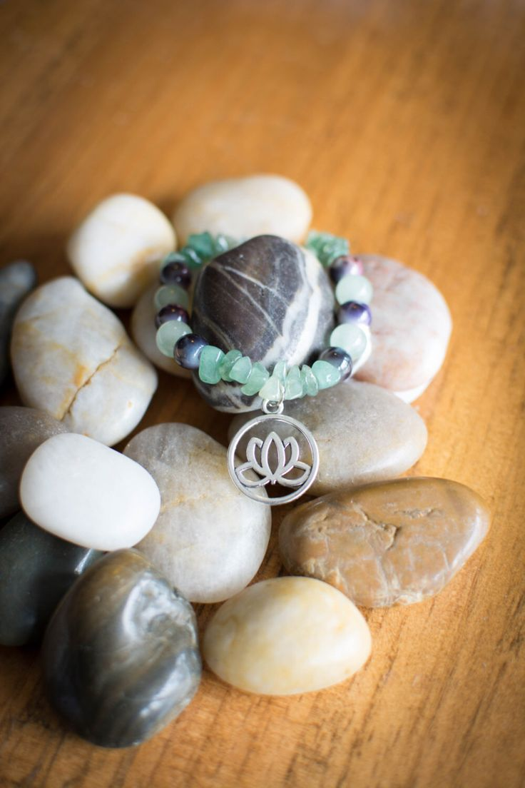 A personal favorite from my Etsy shop https://www.etsy.com/ca/listing/471687931/aventurine-lotus-stretch-bracelet