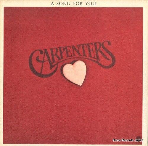 スノー・レコード・ブログ: カーペンターズ / CARPENTERS, THE -  a song for you - SP-3...