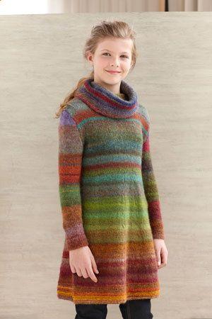 Color Stripe Tunic Free Knitting Pattern