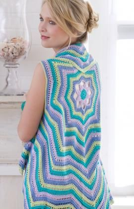Rippling crochet vest.  Made it in all black... it goes with everything!
