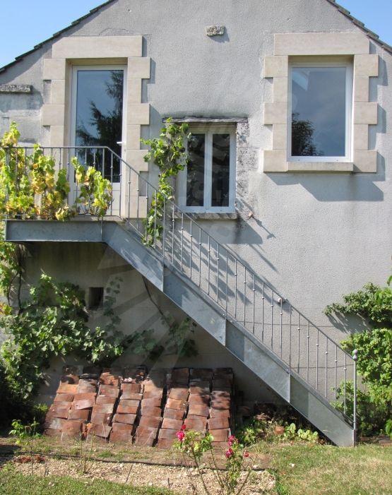 photo dt57 esca 39 droit avec palier d 39 arriv e escalier droit d 39 ext rieur en acier galvanis au. Black Bedroom Furniture Sets. Home Design Ideas