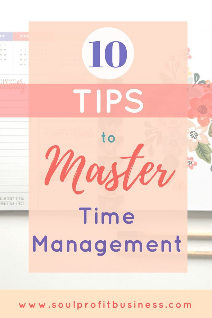 Master your time so you can focus on success! Use these easy 10 tips to increase productivity and time management.