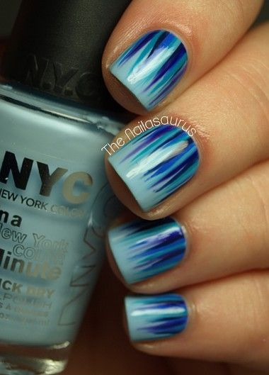 Gorgeous gradient nail design. Beautiful nail art design polish nail nailart art