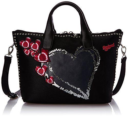 Desigual VALENCIA HEART PUNK - Bolso de hombro para mujer, color schwarz (negro 2000), talla 32x28x15 cm (B x H x T) Desigual http://www.amazon.es/dp/B00O7MTTUE/ref=cm_sw_r_pi_dp_cW2Wvb0H7SY0E