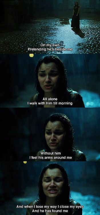 Samantha Barks as Eponine in Les Miserables -- I cried my face off.