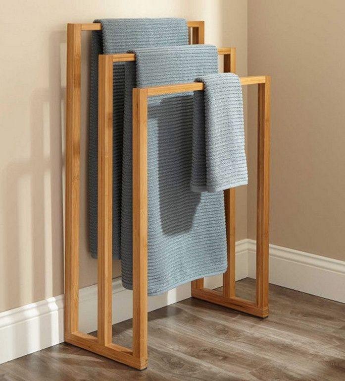 Handtuchstander Bambus Massiv Mit 3 Handtuchstreben Zimmerausstattung Handtuchstander Handtuchregal