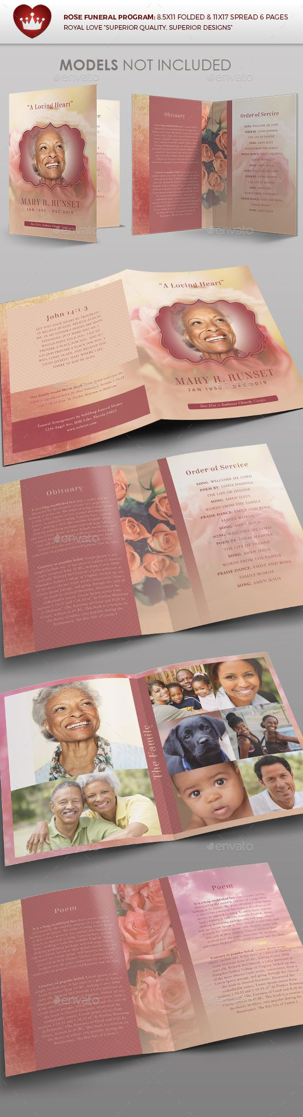 funeral brochure templates - 32 best images about obituaries on pinterest program