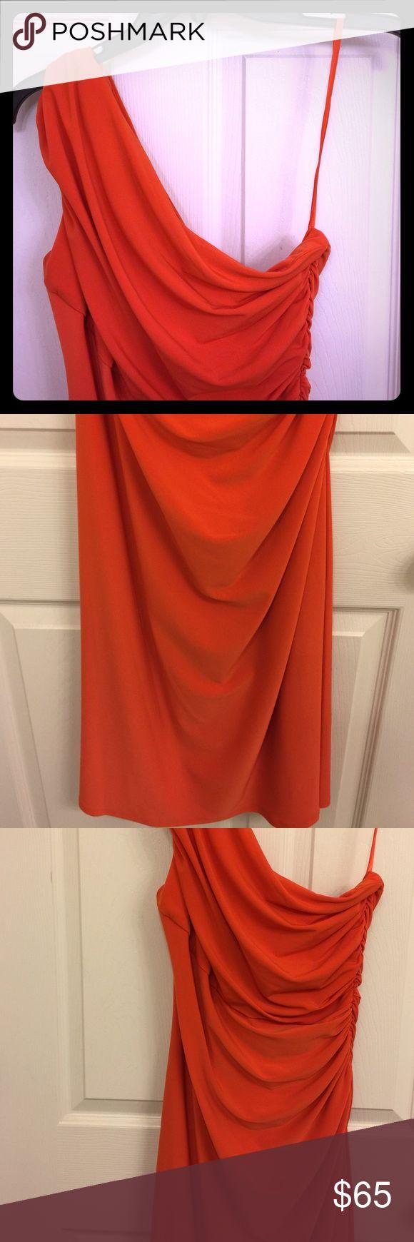 Ralph Lauren dress Orange, one-shoulder, Ralph Lauren dress Lauren Ralph Lauren Dresses One Shoulder
