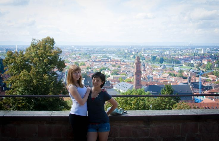 Gator Robyn visits Heidelberg while studying abroad in Germany. #SFSU