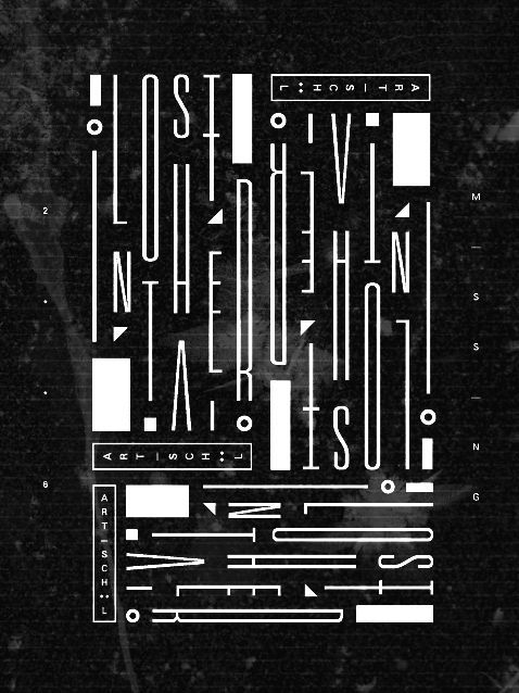 Lost in the air #typography
