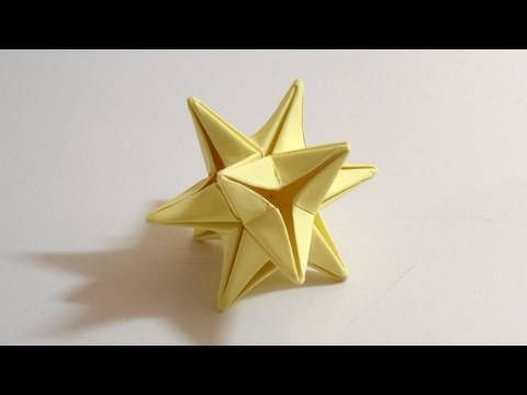 Origami star tutorial (video - silent) - for those with more patience than cash (make with foil paper to glam it up) | 17 Beautiful DIY Christmas Ornaments