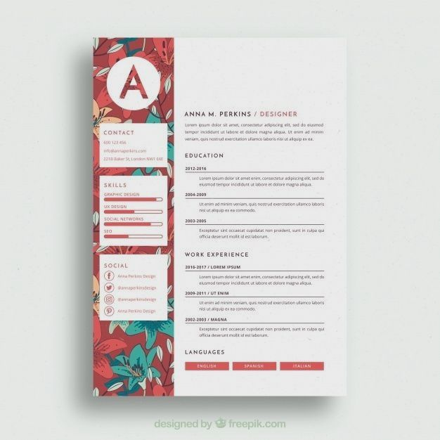 Resume Template With Headshot Photo Cover Letter 1 Page Word Resume Design Diy Cv Template Resume Design Creative Resume Design Cv Design Creative
