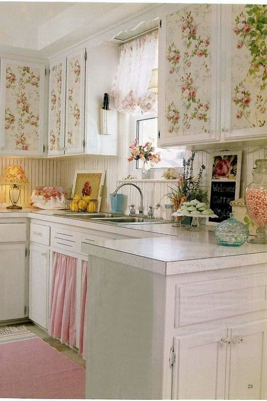 This gave me the idea to decoupage my kitchen cabinets ...
