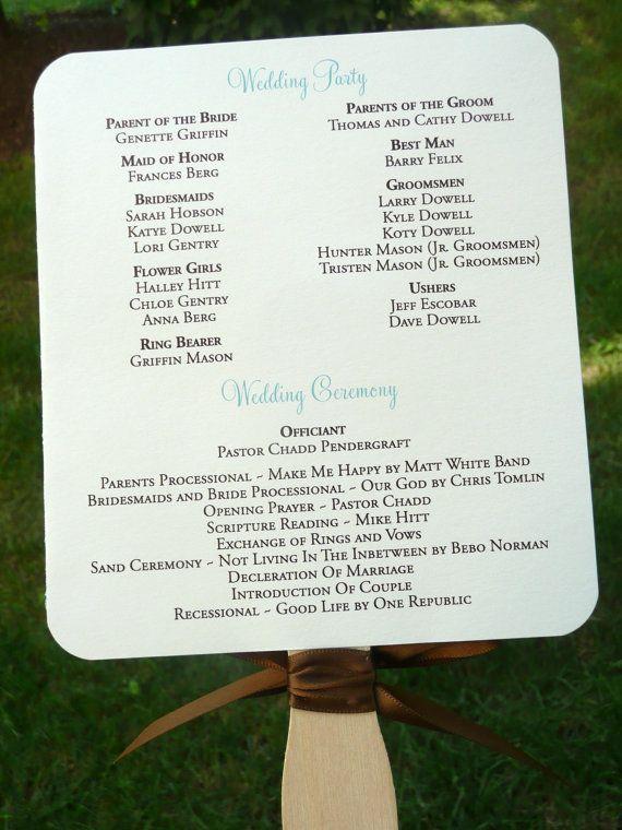 Wedding Program Fan The Allison Sample With By PinkOrchidInvites 200
