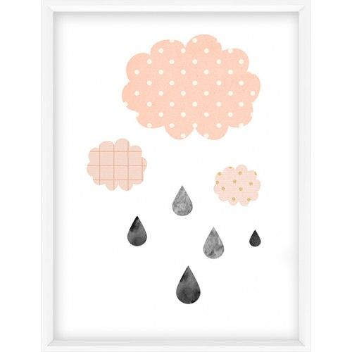 Cute nursery clouds art print- 47