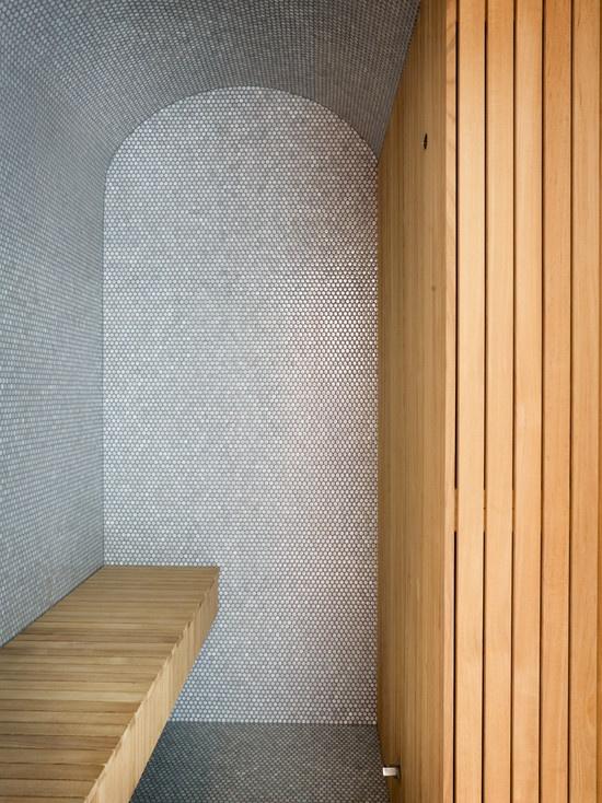 nice tiled sauna