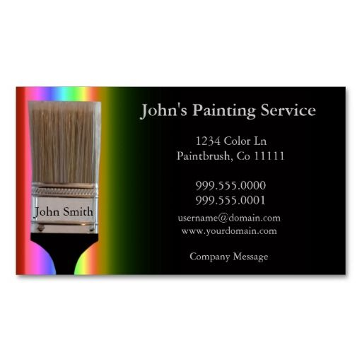 201 best Painter Business Cards images on Pinterest
