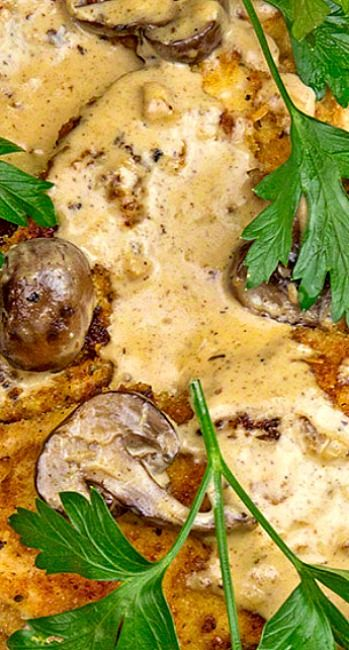 Pork Cutlets with Chardonnay Herb Cream Sauce