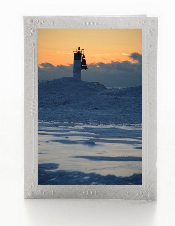 Fine Art Blank Note Cards Set of 3 Sunrise on by MissmacMemories